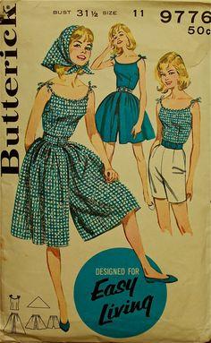 1950s Sportswear Coordinates Butterick Pattern by patterntreasury, $18.95