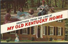 Postcard - Kentucky - My Old Kentucy Home - Plastichrome