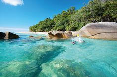Fitzroy Island - A stunningly beautiful rainforest island with white coral beaches and crystal clear waters, surrounded by the Great Barrier Reef.
