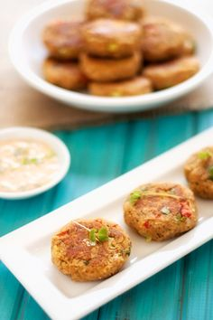Chickpea Cakes with Cucumber Sauce- tried these omitting the quinoa flakes which I didn't have & using a spicy mustard dip instead. they were really yummy