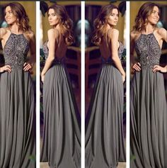 Aliexpress.com : Buy Elegant 2015 halter Beading prom dress long Dark Green party Dresses Open Back Prom Gown Custom SMT7089 from Reliable dress edit suppliers on TideClothes | Alibaba Group