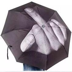 Sombrilla Paraguas Con Mala Actitud Fuck The Rain M0032 - $ 199.00