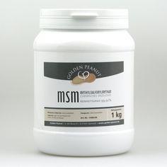 MSM Pulver / organischer Schwefel, Reinheitsgrad 99,92% 1 kg Dose Image
