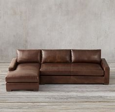 Maxwell Leather Sofa Chaise Sectional in 2020 | Leather