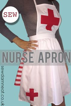 Anna plays nurse kids nurse costume sew delicious sewing learn how to sew a nurse apron as part of your nurse costume for any fancy solutioingenieria Gallery