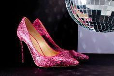Zapatilla glitter rosa