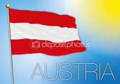 Vector file e illustrazione, bandiera austriaca — Vettoriali Stock © frizio #82732184