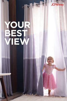 Give your windows a spring refresh with affordably stylish curtains. This soft color-block Valances For Living Room, Fancy Living Rooms, My Living Room, Diy Makeup Organizer, Shabby Chic Bedrooms, Shabby Chic Homes, Curtains For Sale, Drapes Curtains, Color Block Curtains