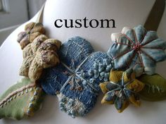 Custom order for Nicole amazing antique french fabric by elsewares, $65.00