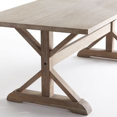 Rustic Oak Dining Table - New