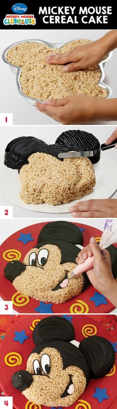 Mold your favorite cereal treats in this Mickey Mouse Cake Pan for the focal point of your sweet table! @partycity