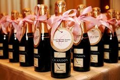 Favour idea: mini bottles of champagne