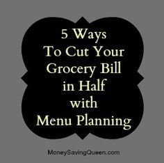 Plan Your Menu = Save Money! Planning hasn't helped me yet, but hopefully I will get there!
