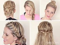 Hairstyles for wet hair.