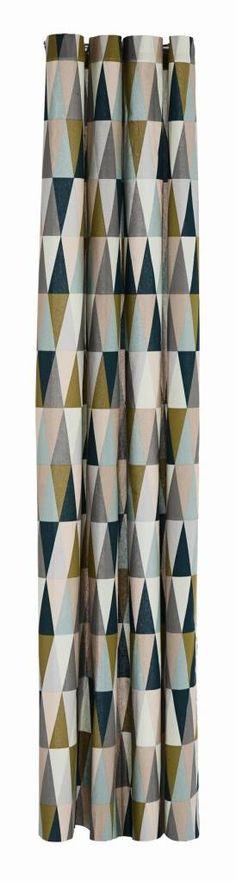 Ferm Living Douchegordijn Spear multicolour katoen waterproof 160x205cm