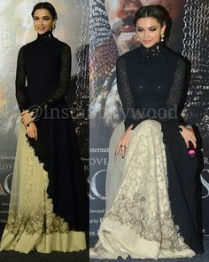 Deepika Padukone looks flawless in a Sabyasachi at the trailer launch of Bajirao Mastani