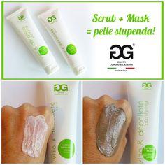 """Scrub + maschera """"Viso e Décolleté"""" della 2G Beauty Communications... la coppia perfetta per una pelle giovane e luminosa, oggi e domani!"""