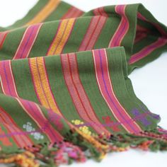Handwoven Mexican Cotton Striped Scarves