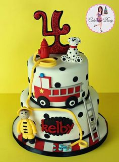 15 Boy Birthday Parties Truck birthday cakes Fire trucks and