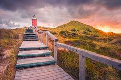 """Dämmerung am Leuchtturm """"Rotes Kliff"""" (Kampen / Sylt)"""