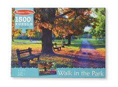 Melissa & Doug Walk In The Park Cardboard Jigsaw Puzzle - 1500 Pieces