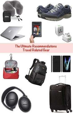 Travel gear Recommendations: Comprehensive guide of travel related items for all travelers including best headphones, best carry-on luggage, best men and women's toiletry bag, best walking shoes, best laptop,  best cell phone etc. to make travel easy. #Besttravelbagsformen