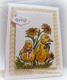 Stamps - North Coast Creations Happy Spring, ODBD Custom Ornate Borders & Flower Dies