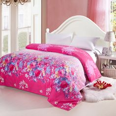 3 pieces egyptian cotton duvet cover set with active printing - alice hot pink Egyptian Cotton Duvet Cover, Bed Spreads, Duvet Cover Sets, 3 Piece, Comforters, Hot Pink, Bedding, Alice, Printing