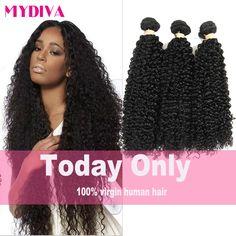 8A Mongolian Kinky Curly Hair Weave Bundles 3 Bundles Afro Kinky Curly Hair Rosa Beauty Human Hair Style Kinky Curly Vrigin Hair