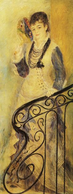 Woman on a Stair | Pierre-Auguste Renoir | c. 1876 | 167.5 x 65.3 cm | Oil on canvas | State Hermitage Museum, St. Petersburg, Russia