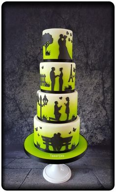 Love Story Wedding Cake by Taaartjes - http://cakesdecor.com/cakes/271796-love-story-wedding-cake