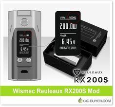 Wismec Reuleaux RX200S Mod – $39.89: http://www.cigbuyer.com/wismec-reuleaux-rx200s-mod/ #ecigs #vaping #wismec #rx200 #rx200s #vapelife #vapedeals