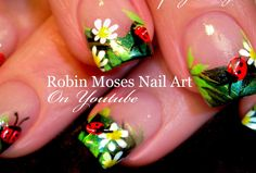 The Best Nail Art Designs – Your Beautiful Nails Diy Ladybug Nails, Diy Rainbow Nails, Bright Nail Art, Neon Nail Art, Neon Nails, Daisy Nail Art, Daisy Nails, Simple Nail Art Designs, Best Nail Art Designs