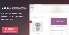 WooCommerce Shopping Hours by wpfruits Woo-commerce Shopping Hours WordPress Plugin Woo-Commerce Shopping Hours is a multipurpose wordpress plugin that enables woo commerce sites to specify shopping time, hot deals, shop opening hours, limited period deals and other of