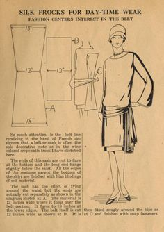 20s vintage dress instructions - free pattern!