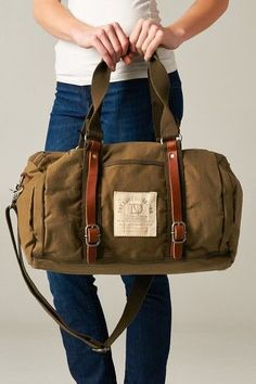 Items similar to Canvas Genuine Leather Straps Duffle Bag Carry On Luggage Diaper Beach Gym Women Men Brown Tan on Etsy Canvas Duffle Bag, Canvas Travel Bag, Leather Duffle Bag, Duffel Bag, Backpack Bags, Travel Bags, Leather Luggage, Mens Travel Bag, Leather Bags