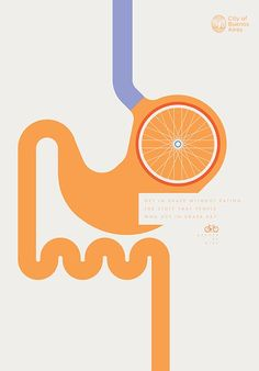 The City of Buenos Aires launched a print advertising campaign developed by La Comunidad to encourage the use of bicycles by promoting the benefits that riding a bike gives to the different parts of our body under the tagline Better by Bike. Design Web, Grid Design, Graphic Design, Design Elements, Print Advertising, Print Ads, Poster Prints, Advertising Campaign, Posters