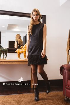 Basic Charming Black Dress by @compagniaitaliana