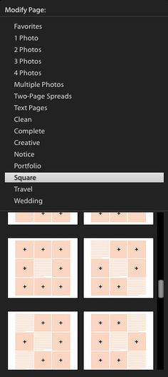 Lightroom book page templates, album layouts, album templates, book layout, book template