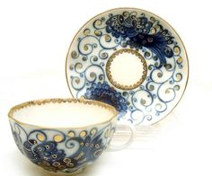 Russian Teacups from Lomonosov Porcelain at The Russian Shop.