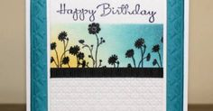"""'Silhouette Sponging' by mnishi using the Stampin' Up! set """"Silhouette Sentiments""""   Gorgeous!   Cards-SU Silhouette Sentiments   Pinterest   Silhouette, Stamp…"""