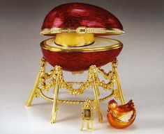 Faberge Eggs: Kelch Hen Egg  /  	Commissioned in 1898,  for Varvara Kelch . The…
