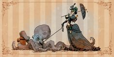 A woman and her pet octopus (Brian Kesinger)
