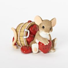 """""""I Love You A Whole Bushel"""" -- Roman's NEW Charming Tails products! Available to retails NOW! -- Item #19381 #charmingtails #mice #ladybug #adorable #roman #fun"""