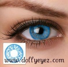 $16.00 a pair Baby Blue non prescription color contacts (1 pair)BK FREE SHIPPING