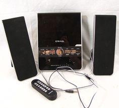 Craig Vertical CD Shelf System with AM/FM Stereo Radio Dual Alarm Clock CM427 #Craig