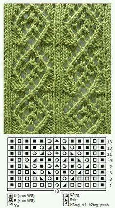 ideas for knitting lace sweater yarns Lace Knitting Stitches, Crochet Stitches Patterns, Knitting Charts, Lace Patterns, Easy Knitting, Loom Knitting, Stitch Patterns, Tattoo Dentelle, Diy Couture