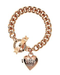 Bow Toggle Heart Crown Bracelet<3