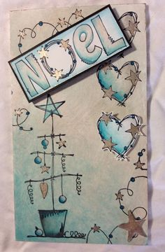 Innovative creativity from PaperArtsy. Paint, stencils, and techniques galore for any mixed media enthusiast to enjoy. Christmas Card Crafts, Xmas Cards, Winter Christmas, Diy Cards, Handmade Christmas, Christmas Holidays, Doodle Paint, Christmas Truck, Greeting Cards Handmade