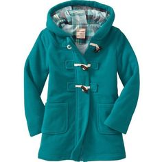 Old Navy Performance Fleece Toggle Coats For Girls ($40) found on Polyvore